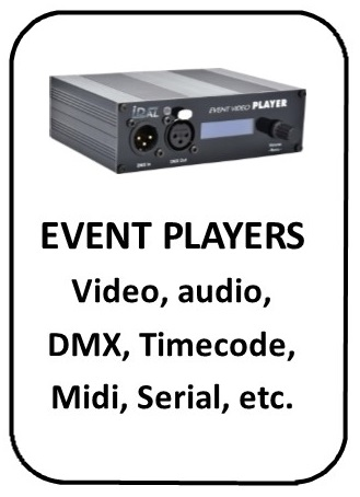 Event players DMX Timecode